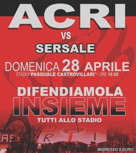 Partita di calcio ACRI VS SERSALE
