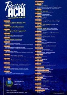 Calendario eventi estivi Acri