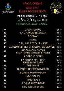 Programma cinema dal 9 al 25 Agosto