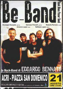 Band EDOARDO BENNATO PIAZZA SAN DOMENICO 21 AGOSTO ORE 23