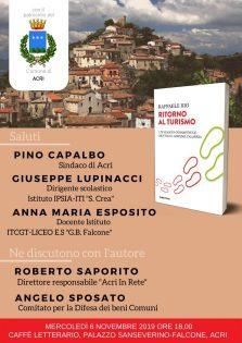 """6 NOV 2019 • Presentazione libro """"Ritorno al Turismo"""""""