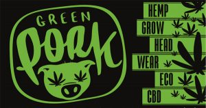"""Green Pork"" Grow shop • Head shop • CBD shop • Prodotti corpo • Abbigliamento"