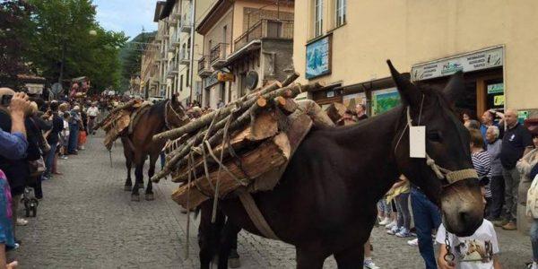 """13 giu – Festa Sant'Antonio da Padova """"Processione delle Travi"""" Scanno"""